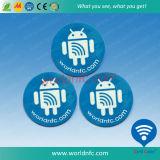 25mm NFC etiqueta con adhesivo 3M