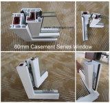 Американское качание внешнее Windows окна PVC типа с шторками