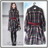 Chaqueta europea del estilo del vestido del invierno de la manera de las señoras del diseño