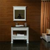 Module de salle de bains en bois debout d'étage simple avec le miroir