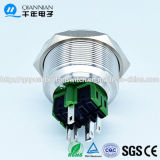Qn30-A1 30mm Ring Type Momentary|Verrouillage du commutateur de bouton poussoir terminal en métal de Pin de tête plate