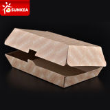 Fast Foodのための使い捨て可能なCustom Packaging Paper Burger Clamshell Box