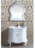 Шкаф ванной комнаты PVC/Arredo Bagno Giallo тонкий/установленный стеной угловойой шкаф ванной комнаты