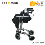 Hand Brake를 가진 Topmedi High End Aluminum Foldable Walker Rollator