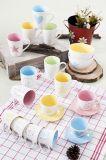 외부 White Inside Color Glaze 11oz Milk Mug