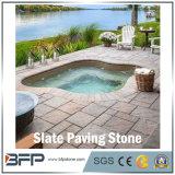 Pedra de pavimentação natural inflamada da ardósia/granito/basalto para o jardim/projeto da paisagem