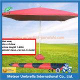 중간 란 사각 바닷가 옥외 우산
