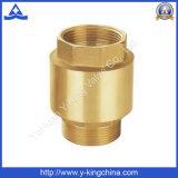 Válvula de verificación de cobre amarillo del resorte con la base de cobre amarillo/plástica (YD-3002)