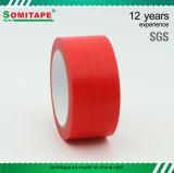 Cinta adhesiva del alto PE de la cantidad del color rojo de la cinta de Somi/cinta adhesiva de enmascarado de Tape/No-Residue del pintor para la pintura de pared