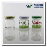 Lidのステッカー30ml Round Mini Mason Glasss Jars Glass Jam Jar