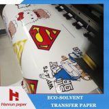 los 61cm X50m, 3 '' core , Papel de traspaso térmico de Eco/rodillo solventes oscuros imprimibles del vinilo para la ropa