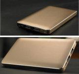 Caricatore portatile doppio dell'uscita 8000mAh di prezzi del metallo della pelle di figura poco costosa del libro con piena capacità