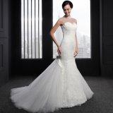 Шнурок Высок-Шеи Appliques вышитый бисером платье венчания Mermaid (SL008)
