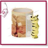 El tigre lindo diseña la taza de cerámica 3D para la sublimación de Mejorsub