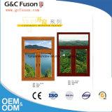 ブラインドの内部の倍のガラス窓で構築されるを用いるアルミニウム開き窓Windows