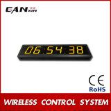 [Ganxin] pulso de disparo da indicação digital do diodo emissor de luz do amarelo da tela 2.3inch para o quarto de reunião