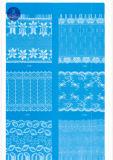 Merletto largo ordinario per vestiti/indumento/pattini/sacchetto/caso 3108 (larghezza: 7cm)