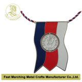 La médaille d'argent avec une pièce en rotation, coutume a attribué la médaille