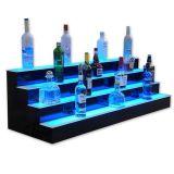 Éclairage LED de qualité supérieure Écran de vin acrylique Présentoir de bouteille d'alcool