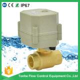 "vávula de bola motorizada pequeña agua de la pulgada Dn15 AC230V NSF61 del 1/2 "" eléctrica"