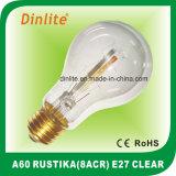 A60-8 (ACR) - E27-Clear et ampoule d'or de Rustika