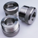 Pieza del acero inoxidable que granea con el CNC que da vuelta a trabajar a máquina del CNC del torno del CNC