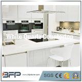 Weißer/beige Polierquarz-Steinmultifunktionscountertop für Küche
