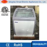 Congeladores superiores de vidro de Xs-160yx, mini congelador do indicador do gelado