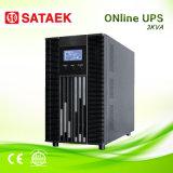 UPS em linha 3kVA do fornecedor de China com bateria externa