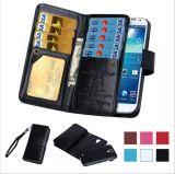 Магнитные 2 в 1 галактике S4/S5/S6 Samsung аргументы за телефона рамки сальто Cover+Cash Slot+Photo случая бумажника кожи Sot карточки роскоши 9