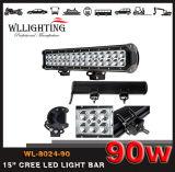 """14.5 """" guides optiques de travail combiné du faisceau DEL d'inondation d'endroit de CREE de 90W 7000lm pour la lampe tous terrains 4WD Wl-8024-90 (LED-LIGHT-BAR) de jeep du bateau 4X4 de SUV"""