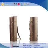 Boîte individuelle granuleuse à vin de Rocodile de carton en cuir de cylindre (5728R18)