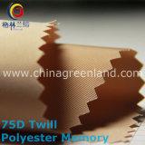ткань Twill памяти 100%Polyester 75D для тканья одежды (GLLML207)