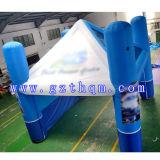 큰 파란 팽창식 천막, 옥외 광고 팽창식 천막