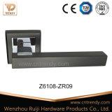 광택이 없는 까만 공단 니켈 색깔 알루미늄 문 레버 손잡이 (AL217-ZR09)