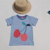 T-shirt estampé par piste du coton des enfants