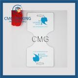 Suporte azul do indicador da colar da impressão do logotipo (CMG-093)