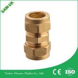 Guarniciones de cobre amarillo de la compresión para los tubos de Pex, guarnición del latón del codo de 90 grados
