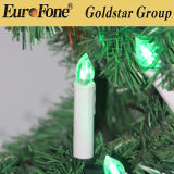 Velas do diodo emissor de luz da decoração do Natal com grampo e de controle remoto