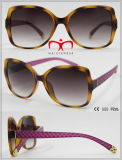 Occhiali da sole di plastica di vendita alla moda e caldi (WSP601538)