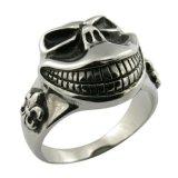 Joyería de los hombres del anillo del cráneo Finer