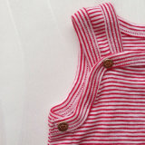 Fio unisex roupa tingida do bebê do Romper do algodão