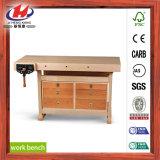 Tableau de travail UV en bois solide de joint de doigt de peinture