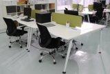 Vectores del escritorio moderno del ordenador de la oficina/arriba del lustre/de la partición de cristal del cubículo