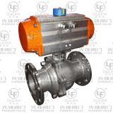 2PC 압축 공기를 넣은 플랜지가 붙은 공 벨브 (PQ41F-150Lb)