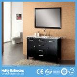 Gabinete de banheiro clássico popular da madeira contínua com pranchas (BV136W)