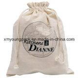 Grande saco natural reusável feito sob encomenda relativo à promoção da lavanderia do Drawstring da lona do algodão do armazenamento 100% da sapata do curso