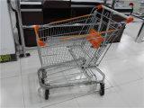 Chariot américain de chariot à achats de supermarché de mémoire en métal
