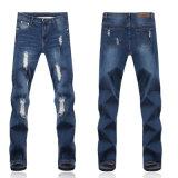 Kundenspezifische Mens-Form-Loch-Auslegung-Wäsche-dünne Jeans