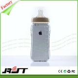 Het grappige 3D Geval van de Telefoon TPU van de Fles van de Melk van de Baby Duidelijke Mobiele voor iPhone 6s